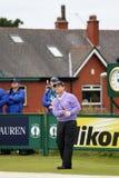 rund utslagsplats tom watson för 9th övning för golf 2012 öppna Royaltyfri Foto