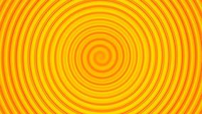 Rund våg för gul piruett Arkivbild
