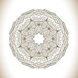 Rund vektormodell av traditionella motiv och forntida orientaliska prydnader Fotografering för Bildbyråer