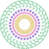 Rund vektorprydnad royaltyfri illustrationer
