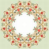 Rund vektorram med den blom- prydnaden Arkivbilder