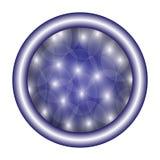 Rund violett knapp för vektor Arkivbild
