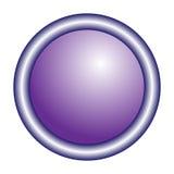 Rund violett knapp för vektor Royaltyfri Fotografi