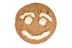 Rund vom Rye-Brot mit dargestelltem Lächeln Lizenzfreies Stockbild