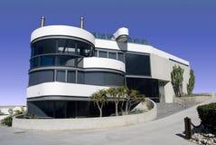 rund white för futuristic hus fotografering för bildbyråer
