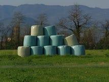 Runda baler i tuscany Royaltyfri Bild