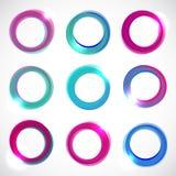Runda baner för färgvektorcirkel royaltyfri illustrationer