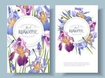 Runda baner för iris stock illustrationer