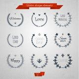 Runda beståndsdelar 01 för tappning royaltyfri illustrationer