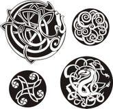 runda celtic fnurror Arkivfoto