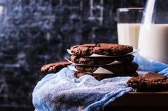 runda chokladkakor Royaltyfri Foto