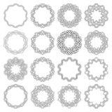 Runda dekorativa beståndsdelar för design Arkivbild