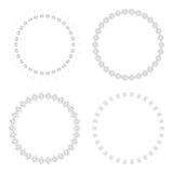 Runda designmallar Runda dekorativa modeller Uppsättning av den idérika mandalaen som isoleras på vit Royaltyfri Bild