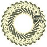 100 runda dollar prydnad Arkivbild