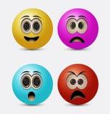 Runda emoticons Royaltyfria Bilder