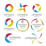Kulöra logoer för abstrakt runda Royaltyfri Fotografi