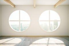 Runda fönster stock illustrationer