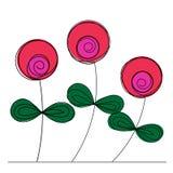 Runda formade blommor Royaltyfri Bild
