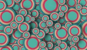 runda former 3D på vanlig bakgrund Fotografering för Bildbyråer