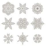 Runda geometriska prydnader royaltyfria bilder