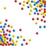 Runda glansiga knappar, modiga bubblor eller söt godisbakgrund royaltyfri illustrationer