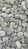 Runda glansiga stenar bakgrund, bästa sikt för hav Royaltyfri Bild