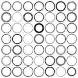49 runda gränser för tappning Ställ in med cirkelramar Fotografering för Bildbyråer
