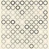 100 runda gränser för tappning Ställ in med cirkelramar Royaltyfri Foto