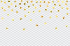 Runda guld- konfettier Royaltyfria Bilder