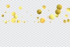 Runda guld- konfettier Arkivfoto