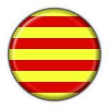 runda Katalonii bandery przycisk Obrazy Stock