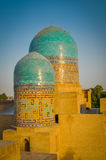Runda kolonner i Samarkand Royaltyfri Foto