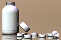 Runda preventivpillerar Arkivbild