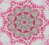 Runda rosa färger med grå färgprydnaden stock illustrationer