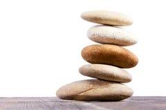Runda stenar på varje annan. Arkivbilder