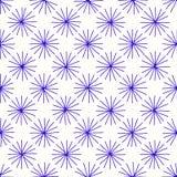 Runda stjärnor av linjerna vektor illustrationer