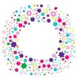 runda stjärnor för ram royaltyfri illustrationer
