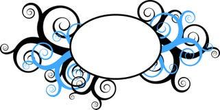 runda swirls för dekorativ ram Royaltyfria Foton