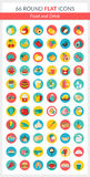 Runda symboler för mat Arkivfoton