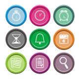 Runda symbolsuppsättningar för organisatör Fotografering för Bildbyråer