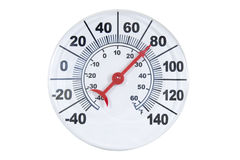 runda termometr Zdjęcia Stock