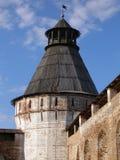 Runda torn, Boris och Gleb Monastery, Borisoglebsk, Rostov område, Yaroslavl region, Ryssland Arkivfoton