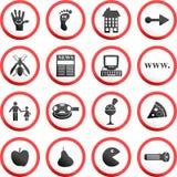 runda znaki drogowe ilustracji