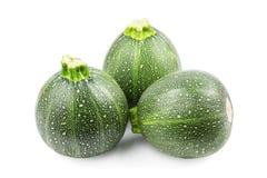 Runda zucchinien Arkivbild