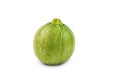 Runda zucchinier på vit Royaltyfri Bild