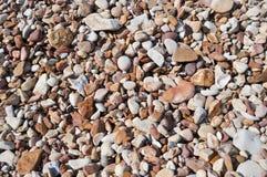Rundad sten på stranden Fotografering för Bildbyråer