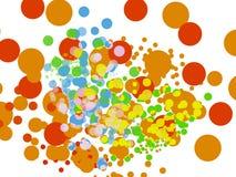 rundad vektor för bakgrundsfärg Arkivfoto