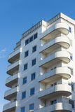 Rundade functionalistic balconys Stockholm Fotografering för Bildbyråer