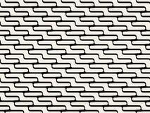 Rundade linjer modell för vektor sömlös svartvit sicksack Royaltyfri Foto