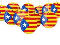 Rundaflaggor av Catalonia Royaltyfri Illustrationer